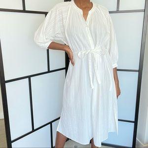 Cotton Dobby 3/4 sleeve peasant dress